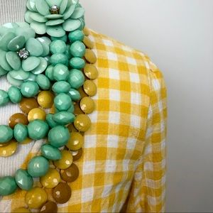Old Navy Yellow Gingham Plaid Wrap Dress